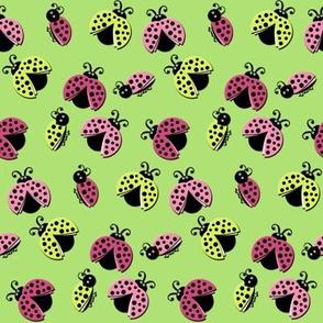 Ladybird Shuffle - Spring Green
