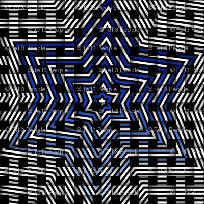 blue star weave pattern