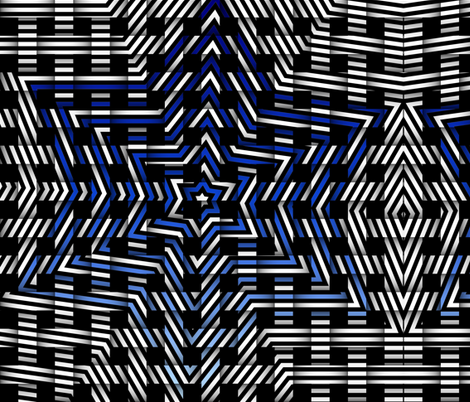 blue star weave pattern fabric by tell3people on Spoonflower - custom fabric