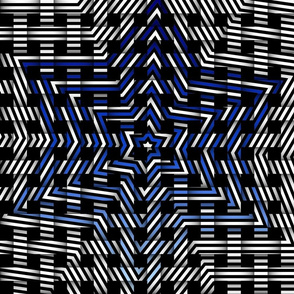 blue star weave pattern