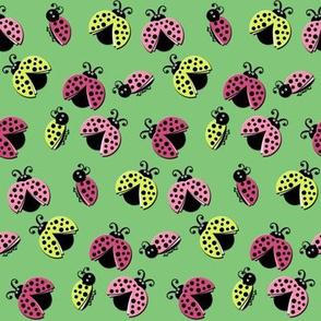 Ladybird Shuffle - Leaf Green