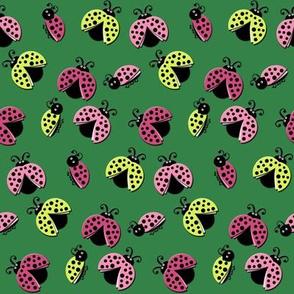 Ladybird Shuffle - Stem Green