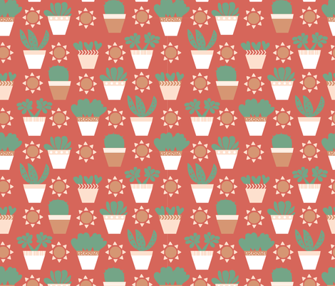 succulents-01 fabric by oakprintdesign on Spoonflower - custom fabric