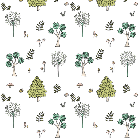 Into The Woods // by Sweet Melody Designs fabric by sweetmelodydesigns on Spoonflower - custom fabric