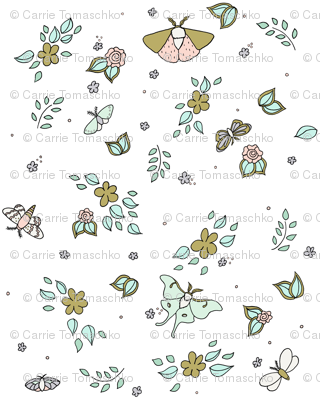 Flora And Flutter // by Sweet Melody Designs