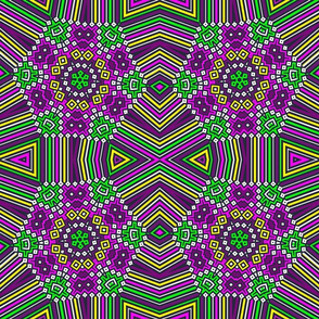 colorful diamond weave pattern