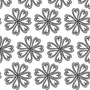 Black and White Floral 02