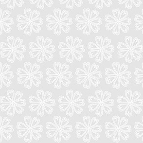 Black and White Floral 03