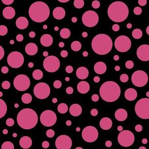 Ladybird Colour Spot - Ladybird Pink on Black
