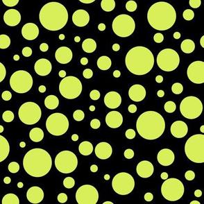 Ladybird Colour Spot - Ladybird Yellow-Green on Black