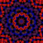brush strokes red brown blue weave kaleidoscope