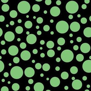 Ladybird Colour Spot - Leaf Green on Black