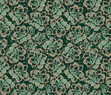 Succulent Camouflage fabric by enid_a on Spoonflower - custom fabric
