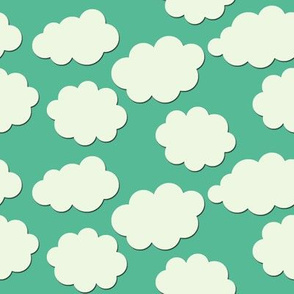 Paper-Cut Clouds - Aqua Skies