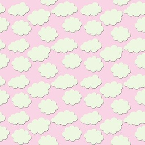 Paper-Cut Clouds - Pink Skies - Small