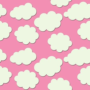 Paper-Cut Clouds - Rose Pink