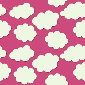 Paper-Cut Clouds - Ladybird Pink