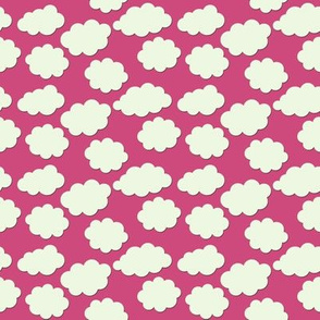 Paper-Cut Clouds - Ladybird Pink - Small