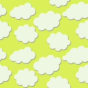 Paper-Cut Clouds - Ladybird Yellow-Green