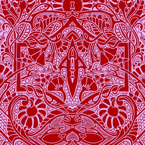 big red bramble fabric edsel2084 spoonflower. Black Bedroom Furniture Sets. Home Design Ideas