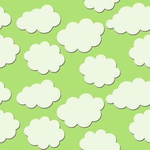 Paper-Cut Clouds - Spring Green