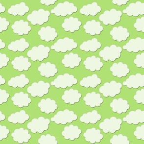 Paper-Cut Clouds - Spring Green - Small
