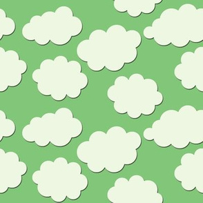 Paper-Cut Clouds - Leaf Green