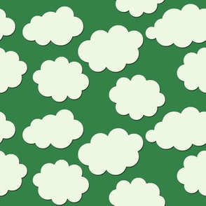 Paper-Cut Clouds - Stem Green