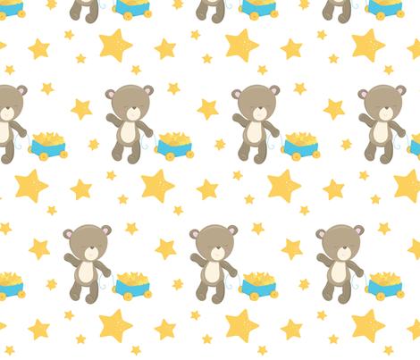 Blue Baby Bears 09 fabric by prettygrafik on Spoonflower - custom fabric