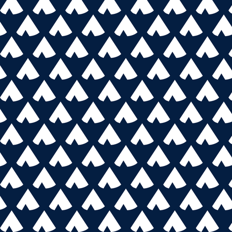 navy teepee fabric by mrshervi on Spoonflower - custom fabric