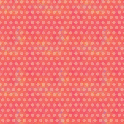 Warm and Sunny-Pink Polka Dots  fabric by sarah_treu on Spoonflower - custom fabric
