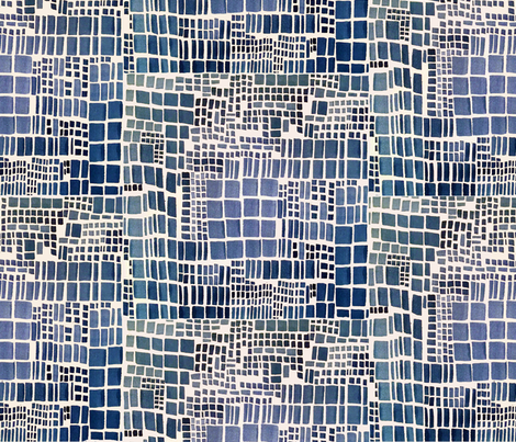 blue_square_pattern fabric by laurieolinder@gmail_com on Spoonflower - custom fabric