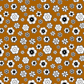Paper Flowers on Orange