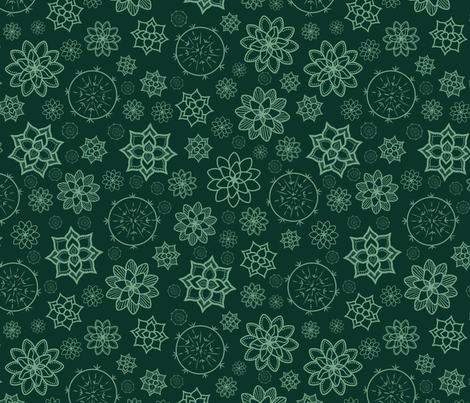 Inspired by Succulent  fabric by mgdoodlestudio on Spoonflower - custom fabric
