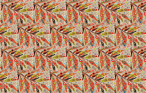 ringed_leaves fabric by lfntextiles on Spoonflower - custom fabric