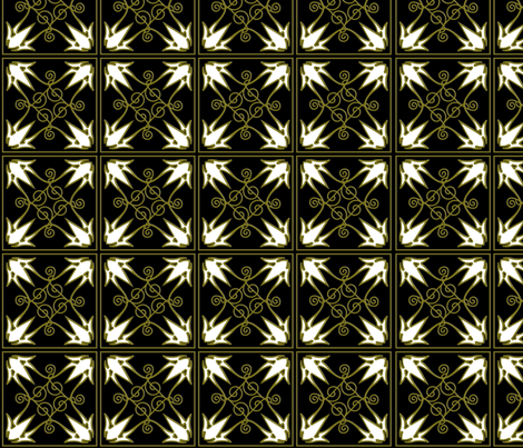 "Black & Bronze pattern 4"" squares fabric by mysticcrab on Spoonflower - custom fabric"
