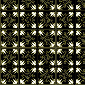 "Black & Bronze pattern 4"" squares"