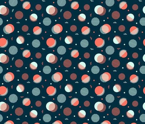 Navy Orbs fabric by megdig_design on Spoonflower - custom fabric