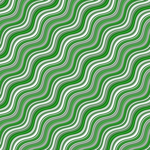 Green & Gray Waves