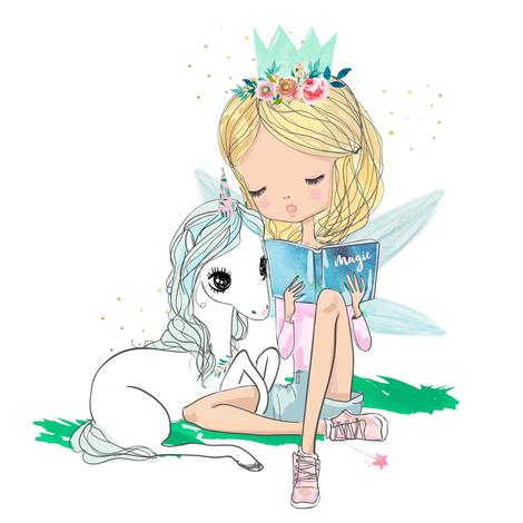 "8"" Unicorn & Fairy Mix & Match  fabric by shopcabin on Spoonflower - custom fabric"