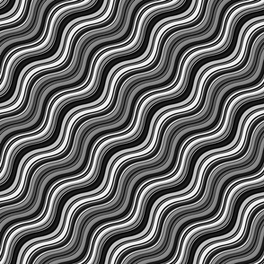 Black & White Waves