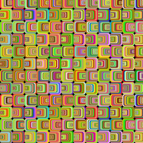 Neon Psychedelic Squares