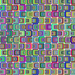 Bright Psychedelic Squares