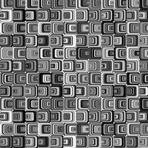 Black & White Psychedelic Squares