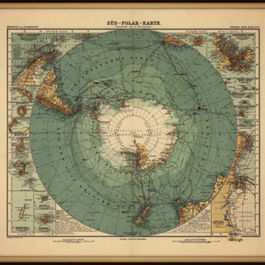 Antarctica map, large