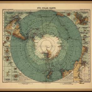 Antarctica map, large