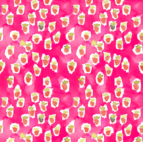 strawberry marmalade fabric by erinanne on Spoonflower - custom fabric