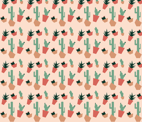 succulents_in_the_desert fabric by alandco on Spoonflower - custom fabric