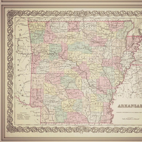 Arkansas vintage map, FQ