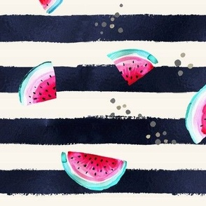 Splashy Watermelon Stripe